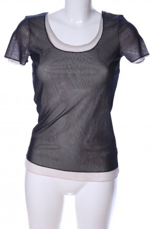 More & More T-Shirt schwarz-wollweiß Casual-Look