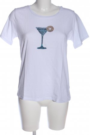 More & More T-Shirt weiß Motivdruck Casual-Look