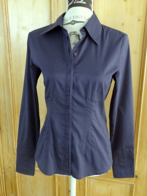 More & More - Taillierte Bluse - Gr. 36 - dunkles lila / aubergine