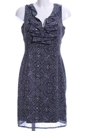 More & More Trägerkleid schwarz-weiß abstraktes Muster Casual-Look