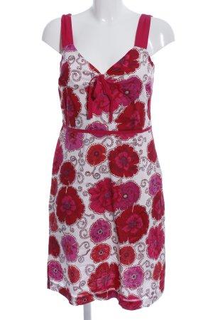 More & More Trägerkleid weiß-rot Blumenmuster Casual-Look