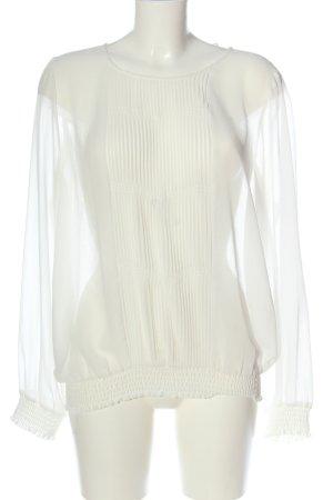 More & More Blusa trasparente bianco stile casual