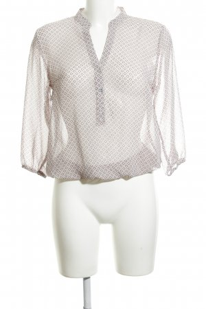 More & More Transparenz-Bluse wollweiß-hellgrau Allover-Druck Casual-Look