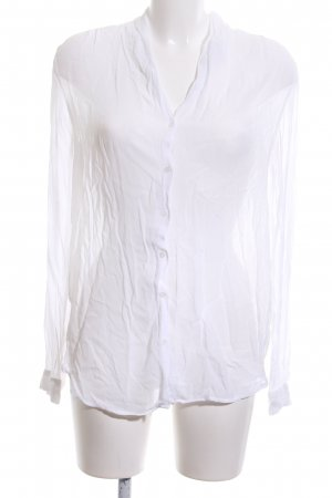 More & More Transparenz-Bluse weiß Casual-Look
