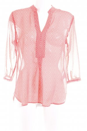 More & More Transparenz-Bluse lachs abstraktes Muster Casual-Look