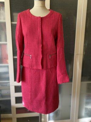 More & More Tweed Kostüm fuchsia Gr. 40 top Zustand
