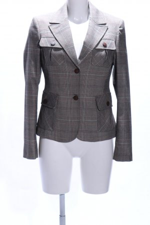 More & More Tweedblazer hellgrau-braun Karomuster Business-Look