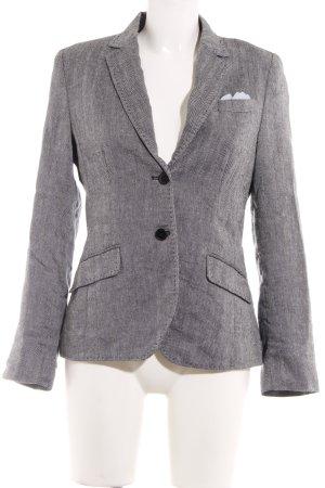 More & More Tweedblazer grau-hellgrau Streifenmuster Business-Look