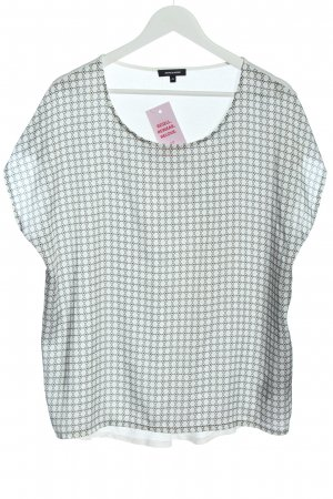 More & More Boatneck Shirt white graphic pattern casual look