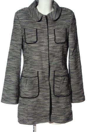 More & More Übergangsmantel schwarz-weiß meliert Casual-Look