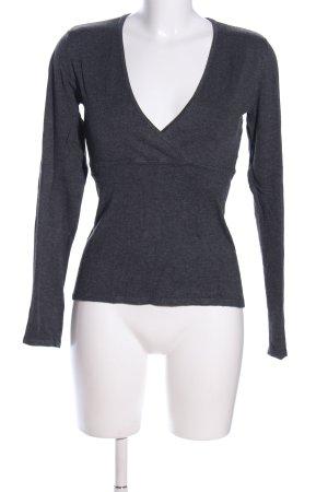 More & More V-Ausschnitt-Pullover hellgrau Casual-Look