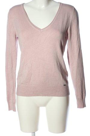 More & More V-Ausschnitt-Pullover pink meliert Casual-Look