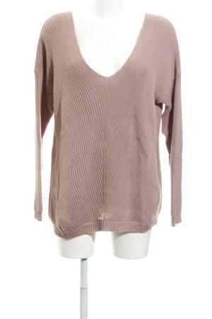 More & More V-Ausschnitt-Pullover altrosa Casual-Look