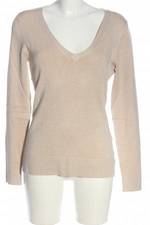 More & More V-Ausschnitt-Pullover creme Business-Look