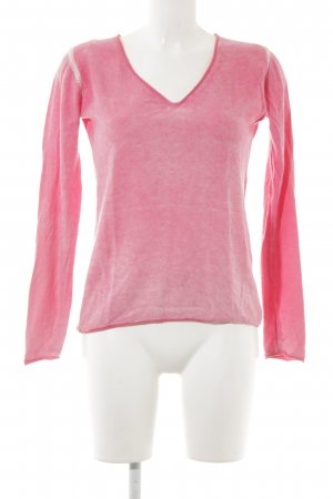 More & More V-Ausschnitt-Pullover pink Casual-Look