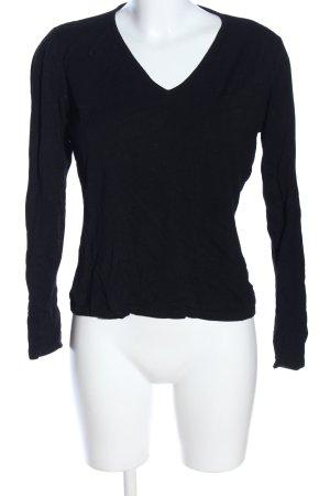 More & More T-shirt col en V noir style décontracté