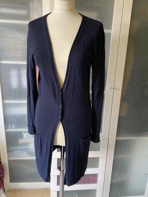 More & More Cappotto a maglia blu scuro