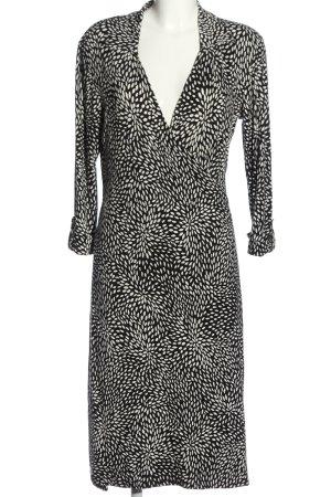 More & More Wickelkleid schwarz-weiß grafisches Muster Casual-Look