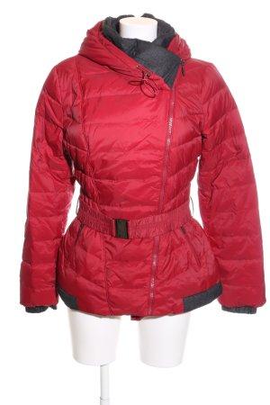 More & More Giacca invernale rosso motivo trapuntato stile casual