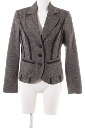 More & More Woll-Blazer hellgrau-braun meliert Business-Look