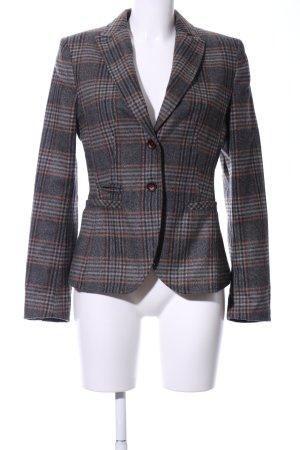 More & More Blazer en laine gris clair-brun motif à carreaux style d'affaires