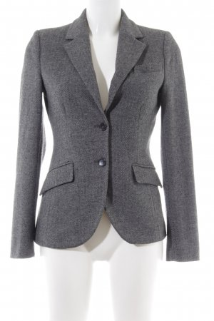 More & More Woll-Blazer silberfarben meliert Casual-Look