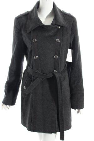 More & More Manteau en laine gris anthracite style classique