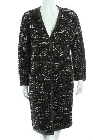 More & More Manteau en laine noir-blanc style mode des rues