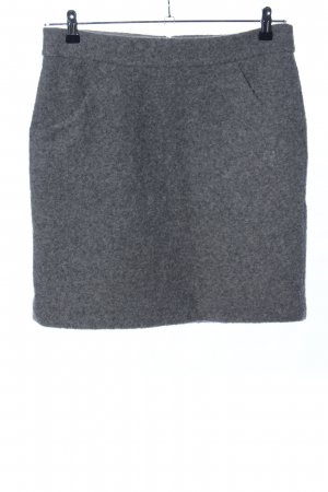 More & More Wool Skirt light grey flecked casual look