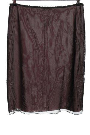 Moreland Spódnica ze stretchu czarny-różowy Imprezowy wygląd