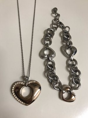 Morellato Schmuckset Halskette Armband Herzform rosé