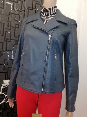 Morelli Italy Damen Echt Leder Designer Jacke blauGr.  38