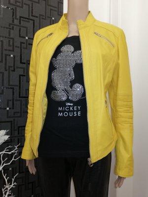 Morelli Italy Damen Echt Leder Designer Jacke gelb Gr. 38 40