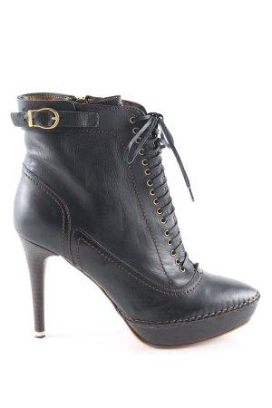 Moreschi High Heel Stiefel schwarz Casual-Look