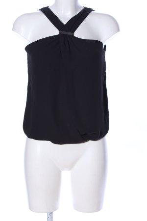 Morgan ärmellose Bluse schwarz Elegant
