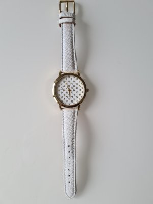 Morgan Montre analogue blanc-doré