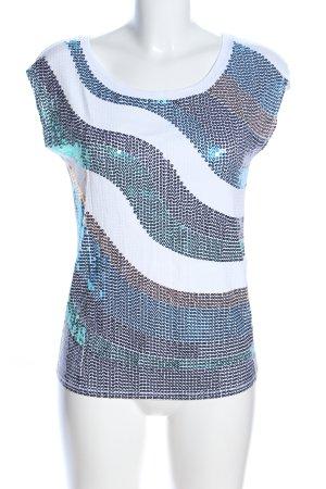 Morgan de Toi ärmellose Bluse weiß-blau Casual-Look