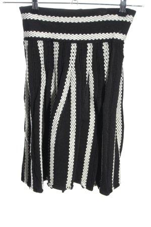 Morgan de Toi Midirock schwarz-weiß Streifenmuster Casual-Look