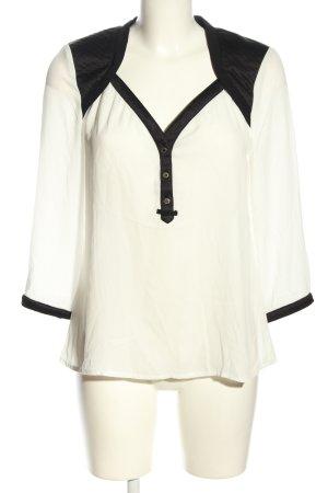 Morgan de Toi Schlupf-Bluse weiß-schwarz Casual-Look