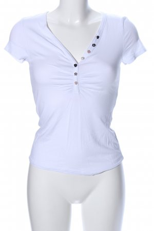 Morgan de Toi V-Ausschnitt-Shirt weiß Casual-Look