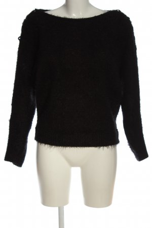 Morgan Grobstrickpullover schwarz Casual-Look