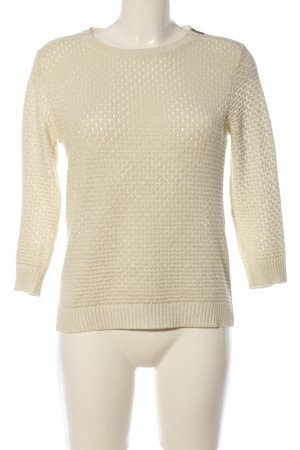 Morgan Häkelpullover creme Casual-Look