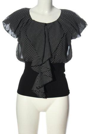 Morgan Camicia blusa nero-bianco stampa integrale elegante