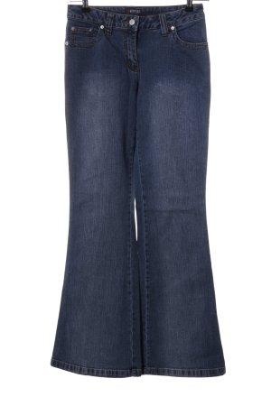 Morgan Jeansschlaghose blau Casual-Look