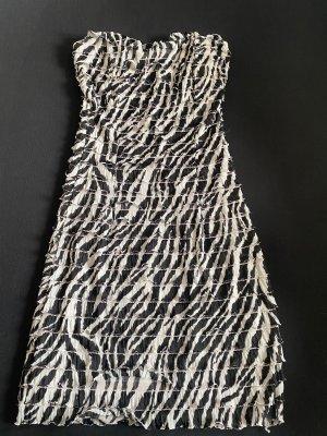Morgan Sukienka z dekoltem typu bandeau czarny-biały