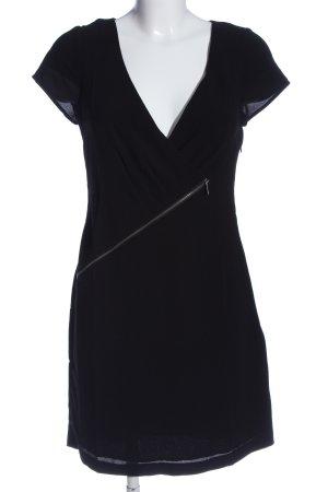 Morgan Vestido camisero negro look casual