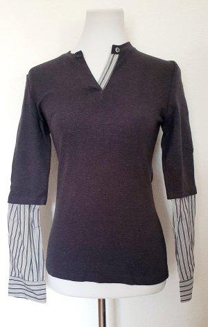 Morgan Langarm Shirtbluse grau gestreift Gr 38