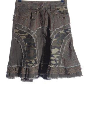 Morgan Midirock khaki-braun Camouflagemuster Casual-Look