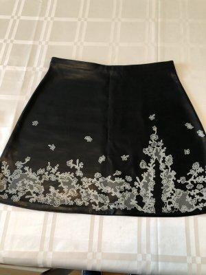 Stretch Skirt black-natural white mixture fibre