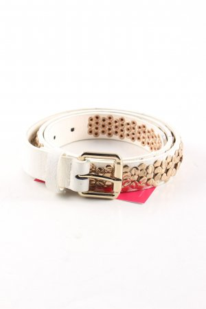Morgan Studded Belt natural white-gold-colored elegant